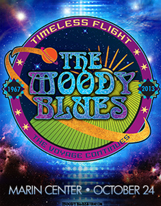 The Moody Blues live at Marin Center in San Rafael, CA on October 24, 2013 at 8:00 P.M.